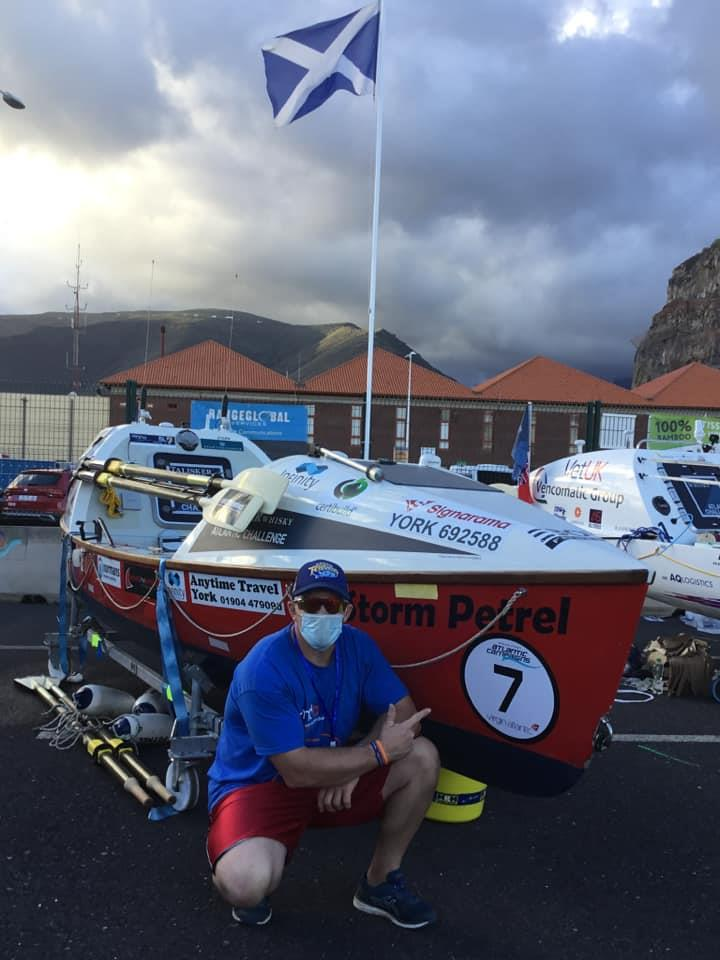 Craig and his boat ahead of leaving for the Canary Islands - photo © Clipper Race