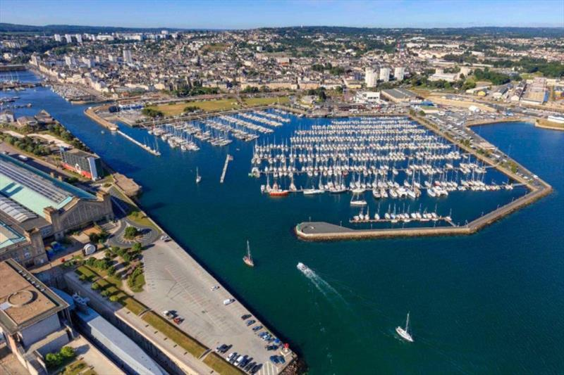 Cherbourg ready to welcome the world's largest offshore race fleet. photo copyright J/ Houyvet taken at Royal Ocean Racing Club