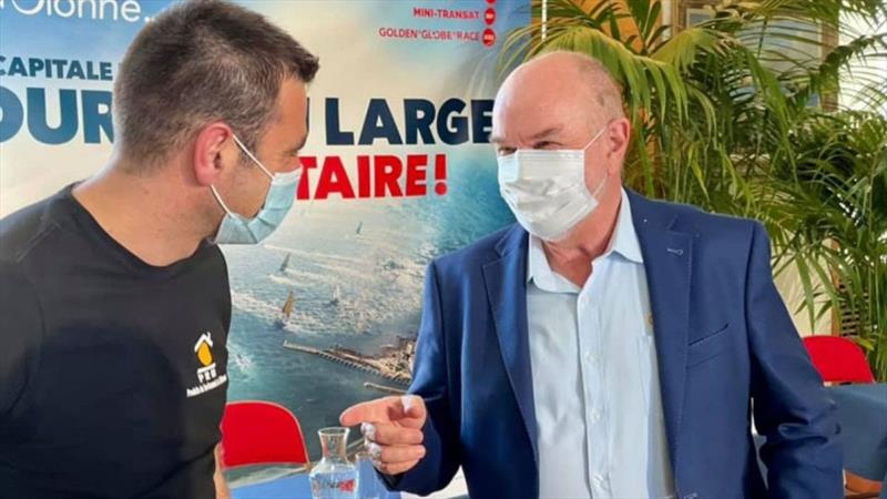 Don first time meet French GGR2022 entrant Damien Guillou sponsored by PRB. - photo © Golden Globe Race