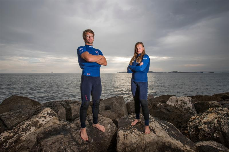 British Sailing Team's Ben Saxton & Nikki Boniface - photo © Richard Langdon / RYA