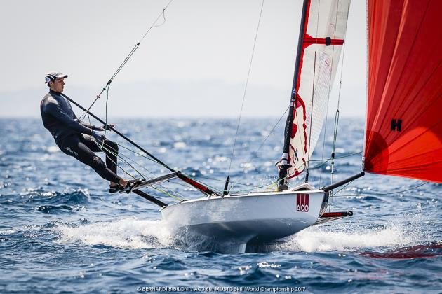ACO 8th Musto Skiff Worlds day 4 - photo © Bernardi­ Bibiloni / ACO 8th Musto Skiff World Championship