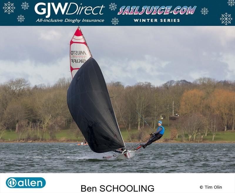 Ben Schooling during the GJW Direct SailJuice Winter Series photo copyright Tim Olin / www.olinphoto.co.uk taken at Oxford Sailing Club and featuring the Musto Skiff class