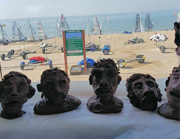 Lionel Richie sculptures at the Stokes Bay Musto Skiff Open - photo © Tim Olin / www.olinphoto.co.uk