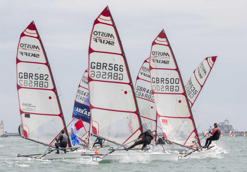 Musto Skiff UK Nationals at Castle Cove SC day 1 - photo © Tim Olin / www.olinphoto.co.uk