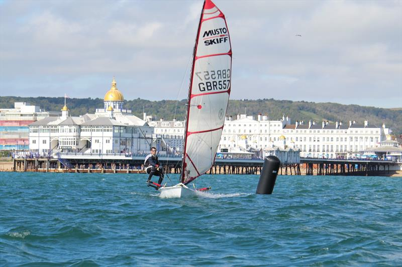 Dan Vincent wins the Eastbourne Sovereign SC Musto Skiff Open photo copyright Ben Daigneault taken at Eastbourne Sovereign Sailing Club and featuring the Musto Skiff class