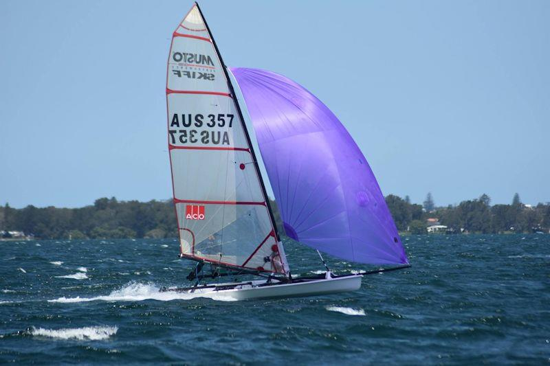 The Malano at the Australian Musto Skiff National Championship 2019 photo copyright Phil Mayo taken at Wangi RSL Amateur Sailing Club and featuring the Musto Skiff class