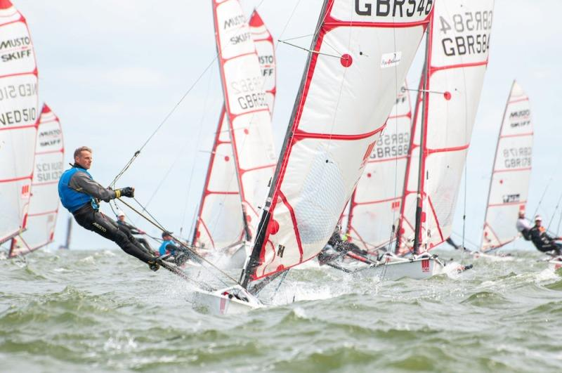 Final day - ACO 10th MUSTO Skiff World Championship 2019 photo copyright Watersport-TV taken at Royal Yacht Club Hollandia and featuring the Musto Skiff class