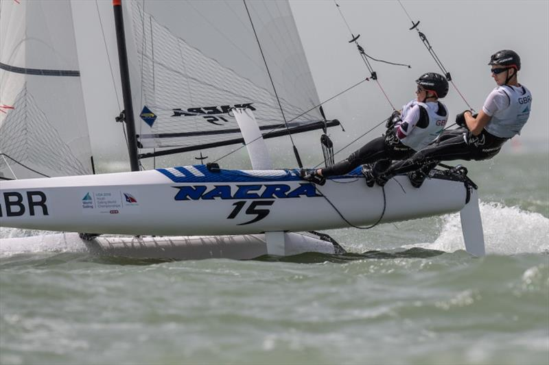 William Smith and Abigail Clarke in action - photo © Jen Edney / World Sailing
