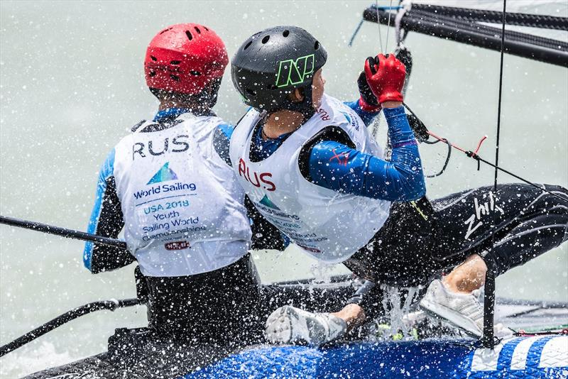 RUS - Nacra 15 - Youth Worlds 2018, Corpus Christi - Day 1 - photo © Jen Edney / World Sailing