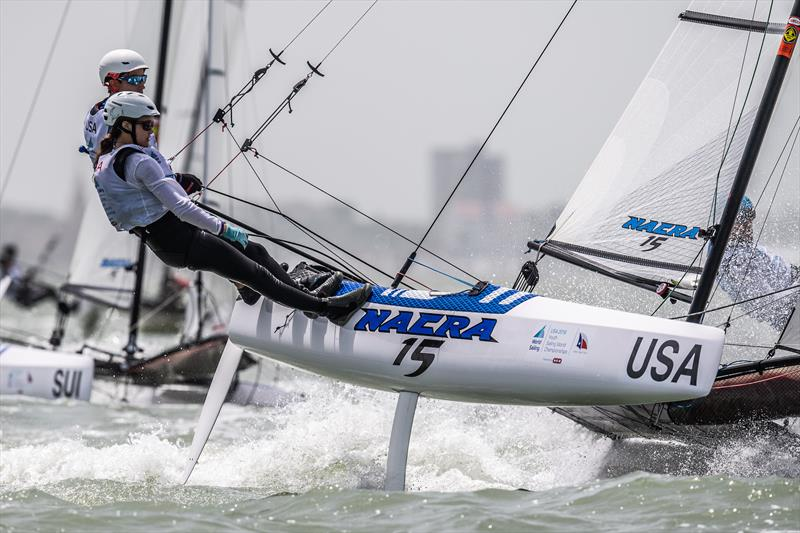 USA - Nacra 15 - Youth Worlds 2018, Corpus Christi - Day 1 - photo © Jen Edney / World Sailing