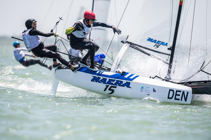 Nacra 15 - Day 3 of the Youth Sailing World Championships in Corpus Christi, Texas - photo © Jen Edney / World Sailing