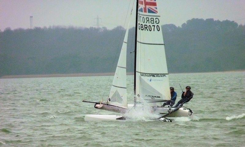 Morgan Smith and Alex Hamel take third Fast fleet at Weston SC's January Cup - photo © Olly Harris