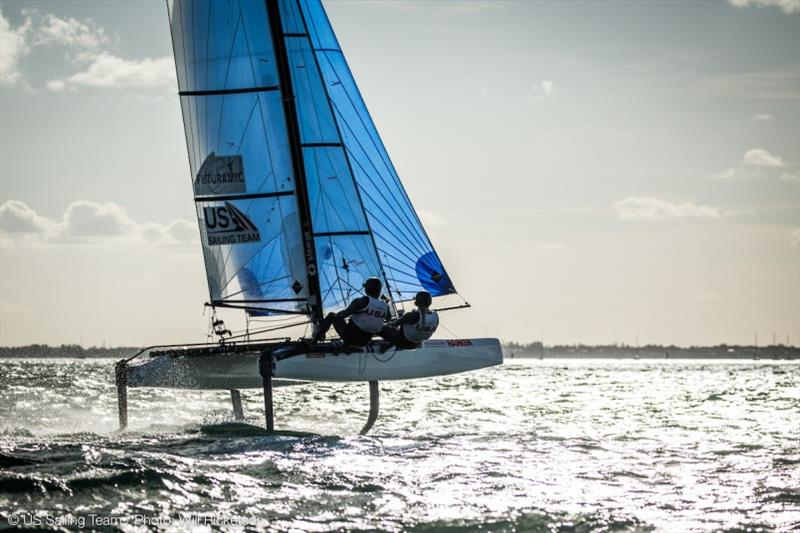 Scutt and her partner, 2016 Olympian Bora Gulari (Detroit, Mich.), will be sailing the Nacra 17 multihull - photo © Will Ricketson / US Sailing Team