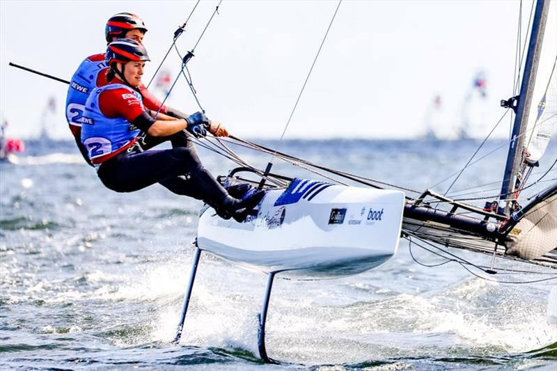 John Gimson and Anna Burnet go with a 6 point advantage into the final day tomorrow - photo © segel-bilder.de / Kiel Week