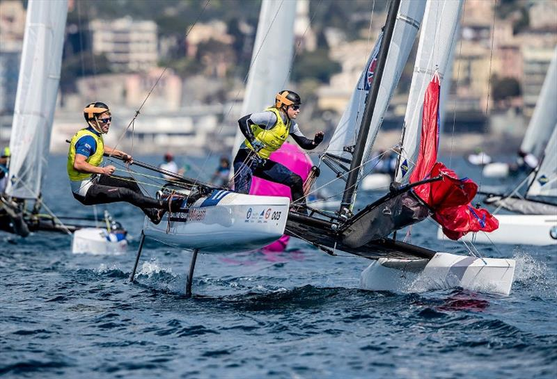 Saxton and Boniface scoop silver at World Cup Series Genoa