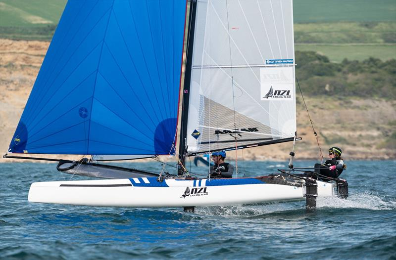Gemma Jones and Jason Saunders (NZL) - Nacra 17 European Championship - Weymouth - Day 3 - photo © Drew Malcolm