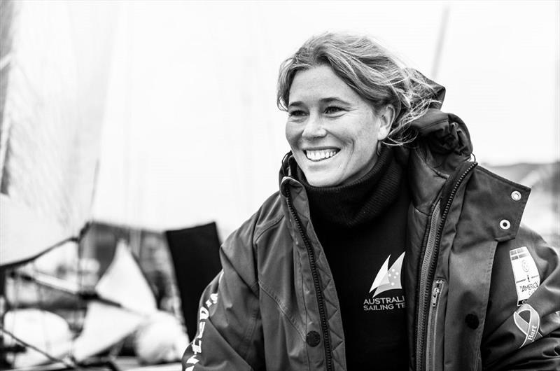 Haylee Outteridge's smile says it all - 2019 49er, 49erFX and Nacra 17 European Championships photo copyright Drew Malcolm taken at Weymouth & Portland Sailing Academy and featuring the Nacra 17 class