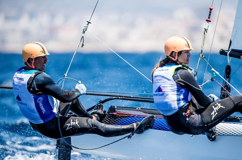Javier Arribas and Ana Cristina Salinas (PER) on day 3 of the Hempel World Cup Series Final in Marseille - photo © Sailing Energy / World Sailing