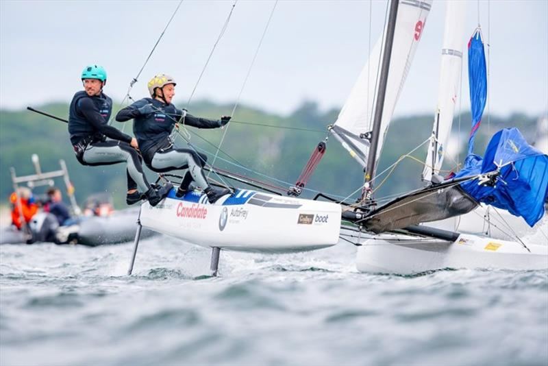 Thomas Zajac and Barbara Matz sailed to the win in the Nacra 17 - Kiel Week 2019 - photo © Sascha Klahn