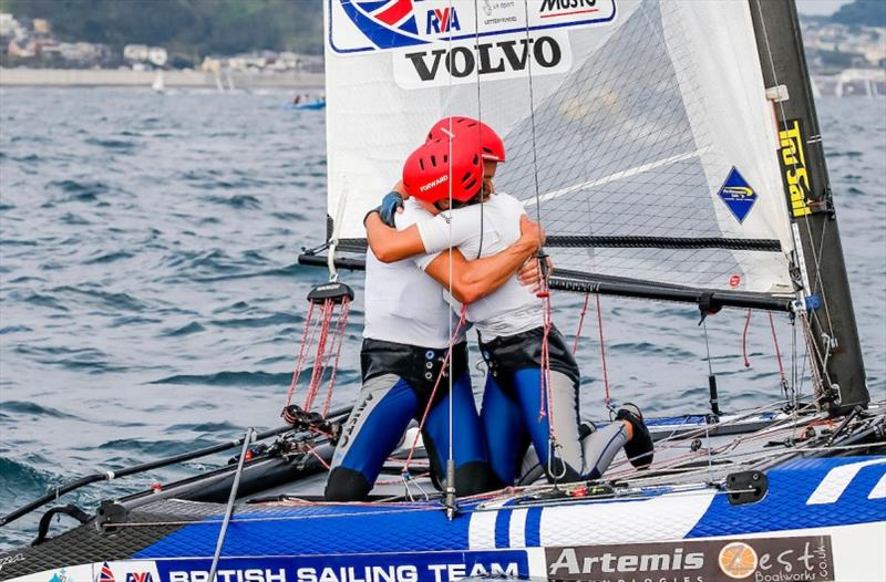 John Gimson and Anna Burnet (GBR) took second ahead of team mates Ben Saxton and Nicola Boniface - Ready Steady Tokyo 2019 - photo © Jesus Renedo / Sailing Energy / World Sailing