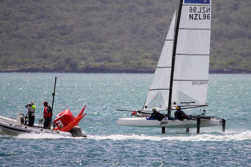 Erica Dawson and Micah Wilkinson on the Waitemata Harbour, November 20, 2019 - photo © Richard Gladwell / Sail-World.com