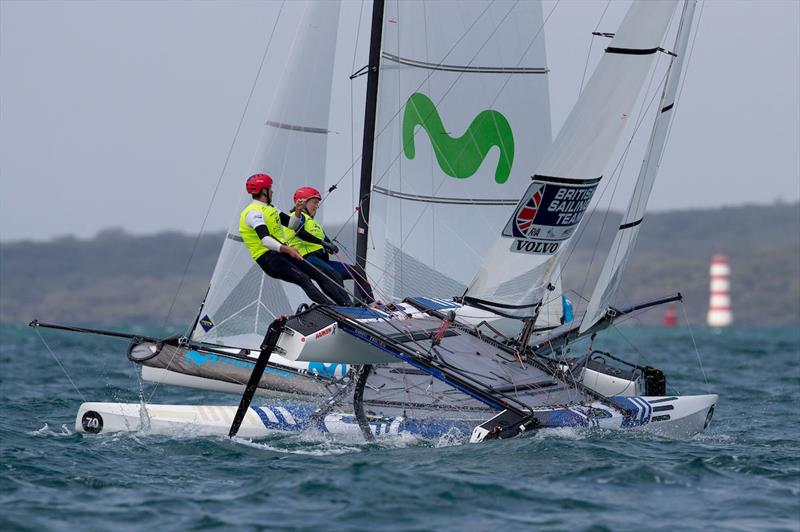 John Gimson and Anna Burnet - 2019 Hyundai 49er, 49erFX and Nacra 17 World Championships - photo © Matias Capizzano