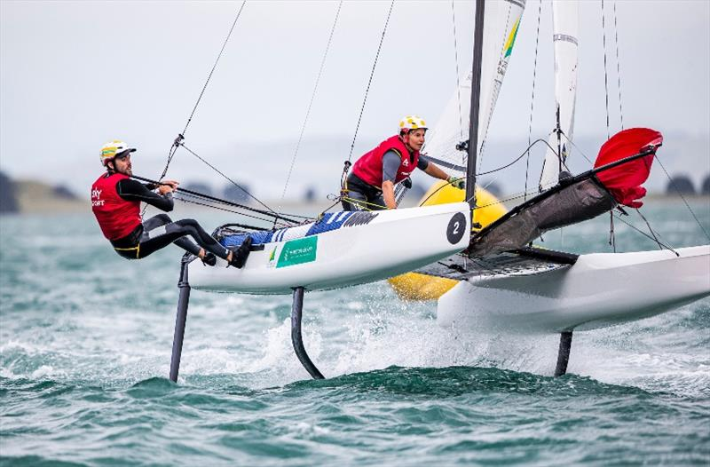 Jason Waterhouse and Lisa Darmanin - 49er, 49erFX and Nacra 17 World Championships final day - photo © Jesus Renedo / Sailing Energy