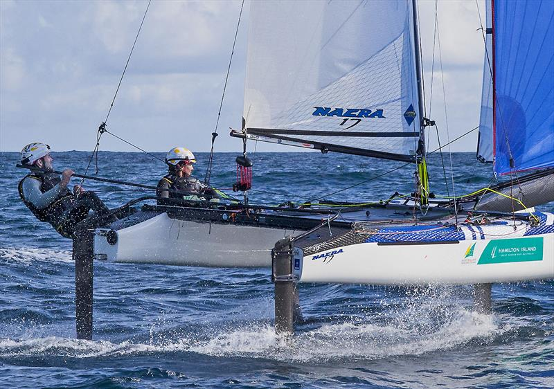 Olympic Silver Medallists at Rio - Jason Waterhouse and Lisa Darmanin - training off Ballina. photo copyright John Curnow taken at  and featuring the Nacra 17 class