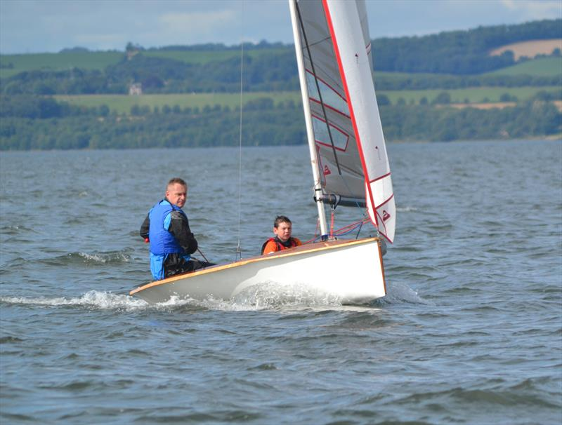 Ed Willett & Alex Campbell win the Cramond Boat Club National 12 Open photo copyright Alvin Barber taken at Cramond Boat Club and featuring the National 12 class