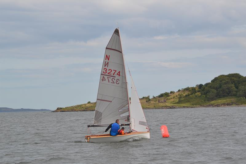 N3274 rounding the windward mark during the Cramond Boat Club National 12 Open photo copyright Alvin Barber taken at Cramond Boat Club and featuring the National 12 class