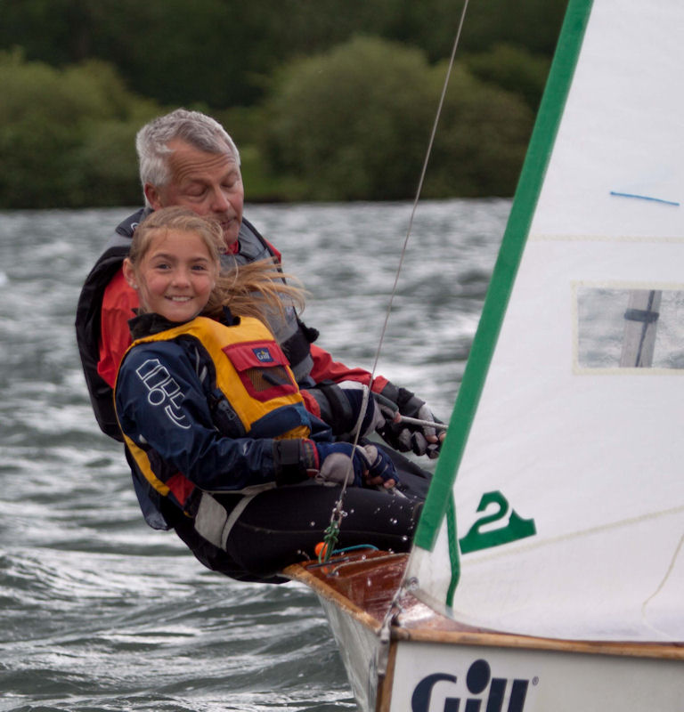 John Sears and daughter during the Notts County Sailing Club Spring Regatta - photo © David Eberlin