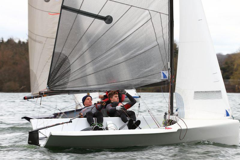 Helm and crew sat slightly back compared to a non-winged National 12 design - photo © Jeremy Carey