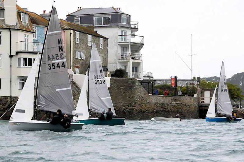National 12s short-tacking to the finish line at Salcombe - photo © Sophie Mackley
