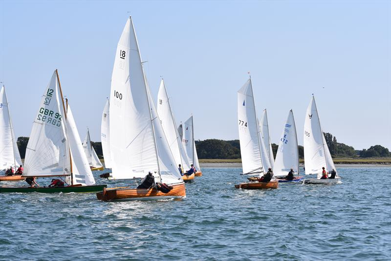 A mixed bag of high class classic dinghies in the fast fleet at the Bosham Classic Boat Revival - photo © David Henshall