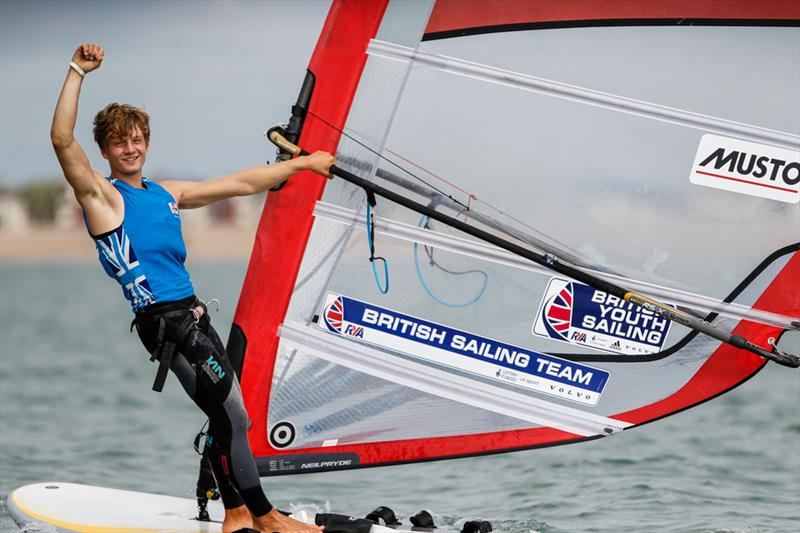 Boys RS:X Gold for Andy Brown at the RYA Youth Nationals - photo © Paul Wyeth / RYA