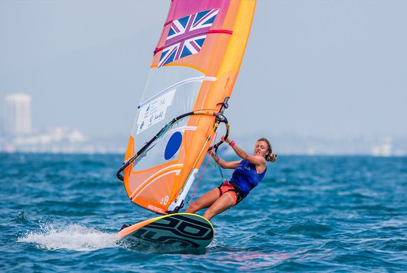 Gold for Emma Wilson (RS:X) in the Youth Sailing World Championships at Sanya, China - photo © Jesus Renedo / Sailing Energy