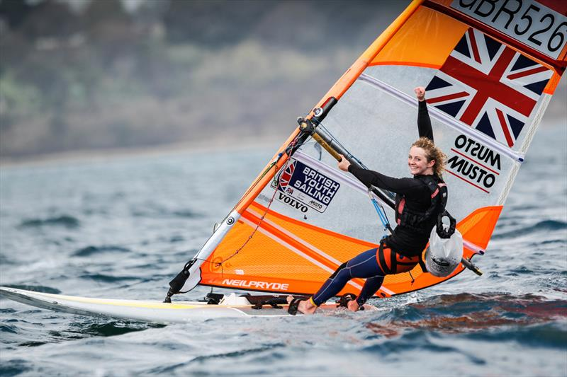 Erin Watson wins the 2018 RYA RS:X Youth National Championships at Weymouth photo copyright Paul Wyeth / RYA taken at Weymouth & Portland Sailing Academy and featuring the RS:X class