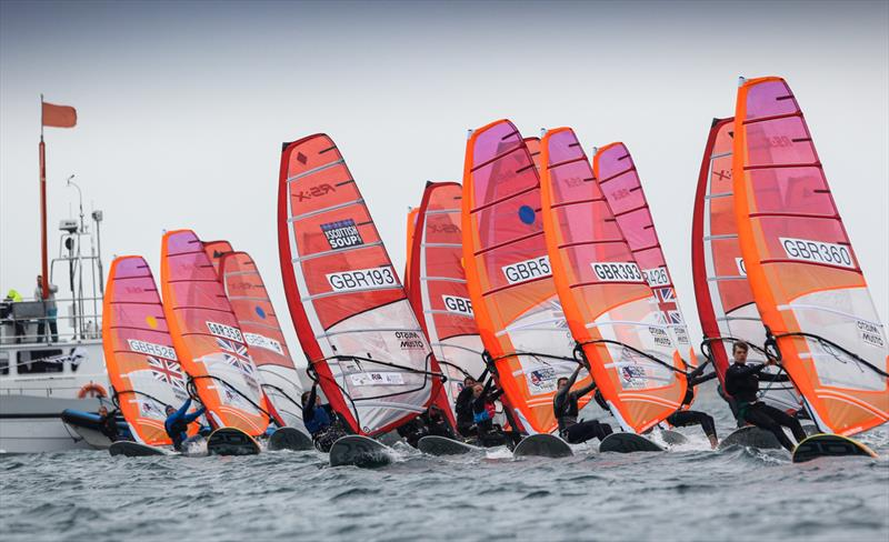 2018 RYA RS:X Youth National Championships at Weymouth photo copyright Paul Wyeth / RYA taken at Weymouth & Portland Sailing Academy and featuring the RS:X class