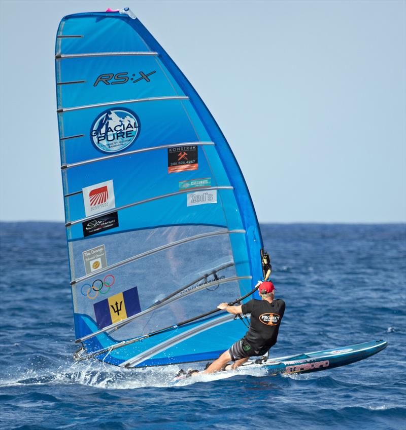 Trevor Hunte broke the Windsurfer record - Mount Gay Round Barbados Race 2018 - photo © Peter Marshall / BSW
