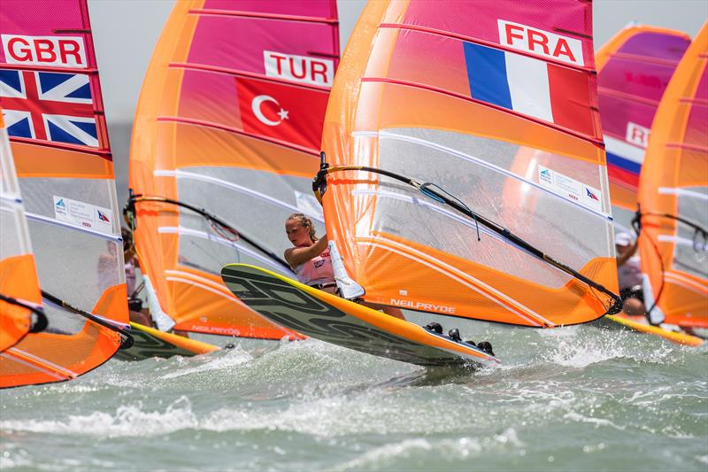 Womens RS:X - Youth Worlds 2018, Corpus Christi - Day 1 - photo © Jen Edney / World Sailing
