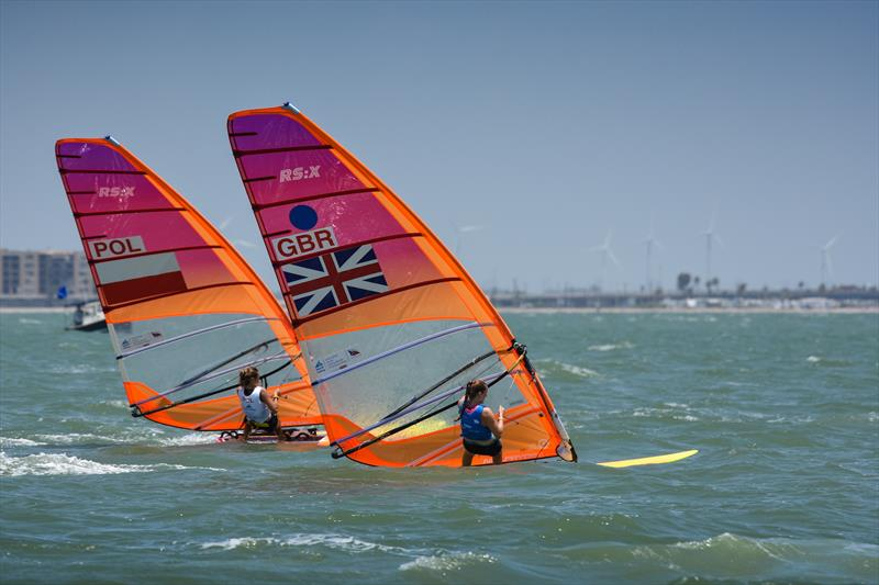 Womens RS:X - Day 3 of the Youth Sailing World Championships in Corpus Christi, Texas - photo © James Tomlinson / / World Sailing