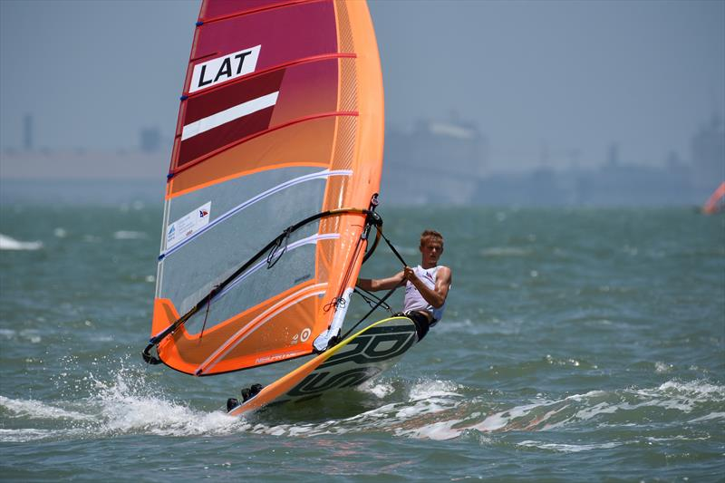 Mens RS:X - Day 3 of the Youth Sailing World Championships in Corpus Christi, Texas - photo © James Tomlinson / / World Sailing