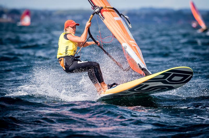 Lilian de Geus (NED) - RS:X- Day 10 - Hempel Sailing World Championships, Aarhus, Denmark, August 2018 - photo © Sailing Energy / World Sailing