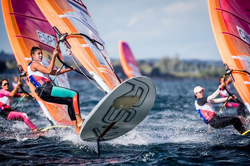 Womens RS:X - Day 10 - Hempel Sailing World Championships, Aarhus, Denmark, August 10, 2018 - photo © Sailing Energy / World Sailing