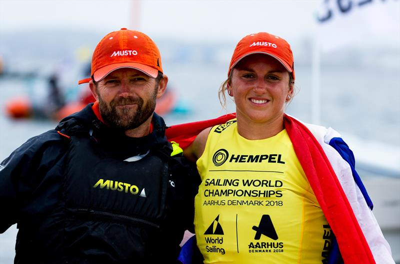 Lilian de Geus (NED) - RS:X - Day 11 - Hempel Sailing World Championships, Aarhus, Denmark, August 2018 - photo © Sailing Energy / World Sailing