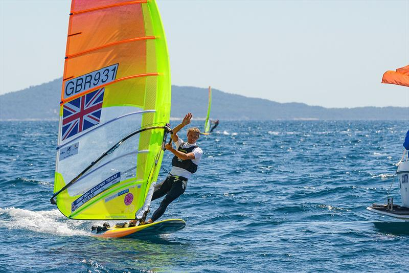 Tom Squires came 6th at French Olympic Week in Hyeres - photo © Eric Bellande
