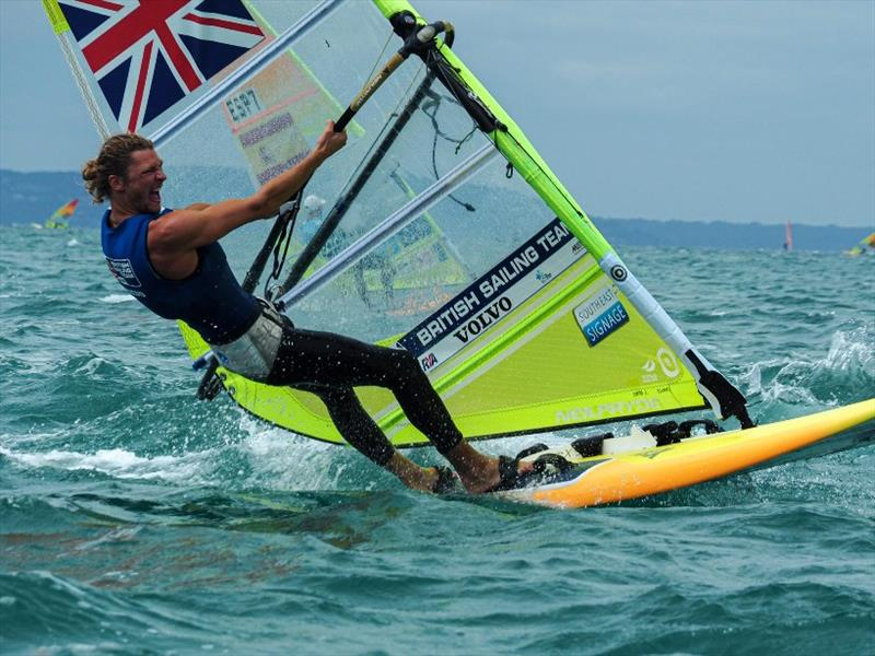 Tom Squires (GBR) - 2020 RS:X Windsurfing World Championships, day 3 - photo © Caitlin Baxter