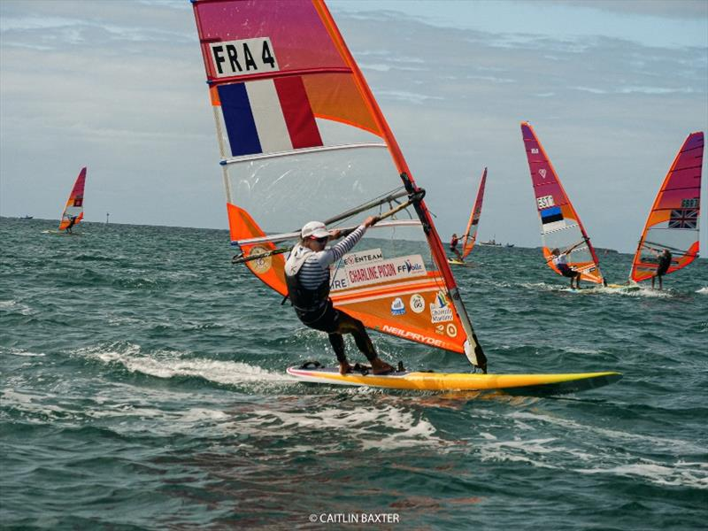 Charline Picon (FRA) - 2020 RS:X Windsurfing World Championships, day 4 photo copyright Caitlin Baxter taken at Sorrento Sailing Couta Boat Club and featuring the RS:X class