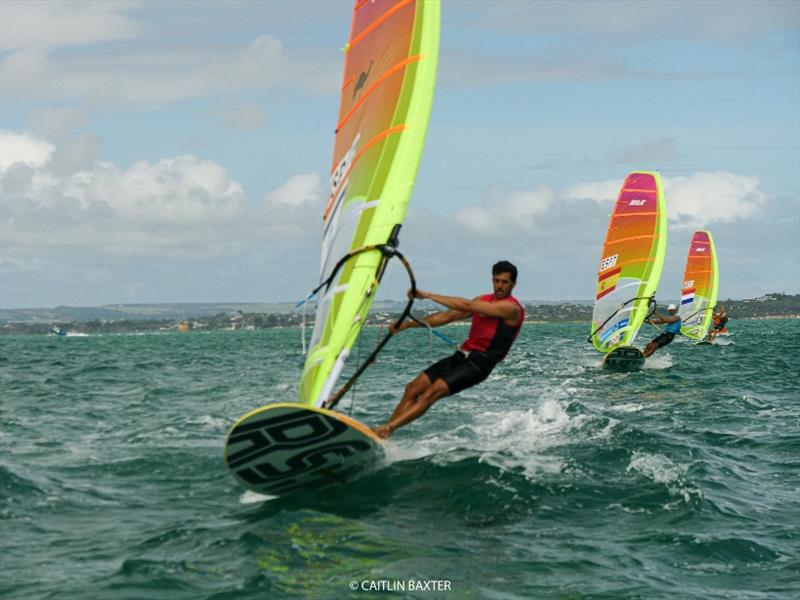 Shahar Zubari (ISR) - 2020 RS:X Windsurfing World Championships, day 4 photo copyright Caitlin Baxter taken at Sorrento Sailing Couta Boat Club and featuring the RS:X class