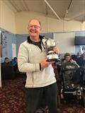 Keith Byers, OK Dinghy Travellers Trophy winner during the OK End of Season Championship at Burton © Karen Robertson